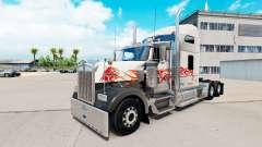 La peau du Taureau sur le camion Kenworth W900