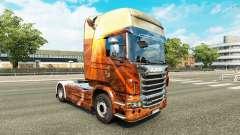 Esprit libre de la peau pour Scania camion