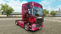 La peau Weltall sur le tracteur Scania