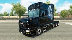 White Cheetah-Haut-für truck Scania T