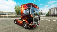 L'incendie Effet de la peau pour Scania camion