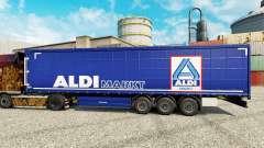 Haut der Aldi-Markt für semi-Trailer