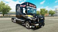Chat noir de la peau pour Scania T camion