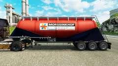 Haut Morssinkhof Groep Zement semi-trailer