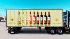 Haut E. & J. Gallo Winery in kleinen trailer
