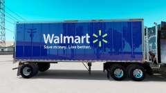 La peau Walmart sur la petite remorque