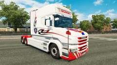 Weiße Haut für LKW Scania T