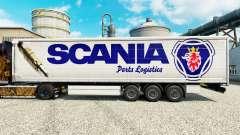 La peau Scania Logistique de Pièces de rechange