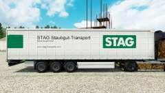 Haut Stag Staubgut-Transport auf semi-Trailern