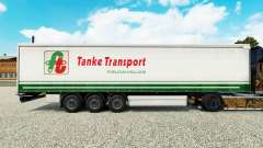 Haut Tanke Transport auf semi-trailer Vorhang