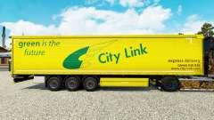 Skin City Link auf einen Vorhang semi-trailer