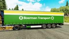 La peau Boerman de Transport de semi-remorques