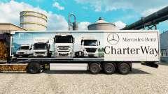 Skin Mercedes-Benz Charter Way auf den Anhänger