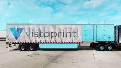 Haut Vistaprint auf einem Vorhang semi-trailer