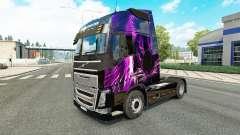 Violet peau de Tigre pour Volvo camion