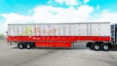 Haut Beazer Homes auf einen Vorhang semi-trailer