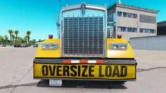 Stoßstange Oversize Load für den Kenworth W900