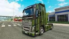Grüne Streifen Haut für Volvo-LKW