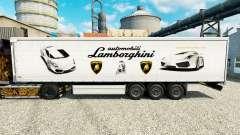 La peau Lamborghini semi-remorques