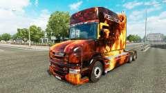 Les flammes de la peau pour camion Scania T