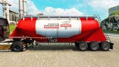 Haut Nara Zement semi-trailer