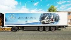 La peau Mercedes-Benz semi-remorques
