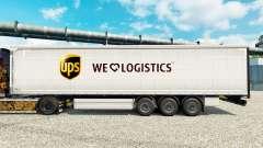 Haut UPS die Logistik für Anhänger