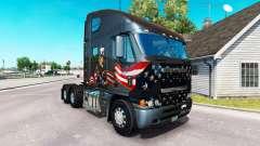 Haut Uncle Sam auf dem LKW Freightliner Argosy