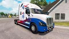 De la peau A. T. Un tracteur Freightliner Cascad