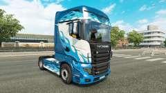 Flamme bleue de la peau pour Scania camion R700