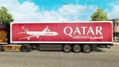 Qatar Airways de la peau pour les remorques