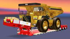 Low sweep mit dem dump truck Caterpillar