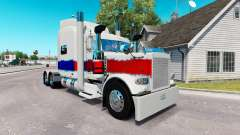 La peau de La Perle au camion Peterbilt 389