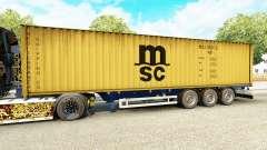 La semi-remorque-le porte-conteneurs MSC armemen