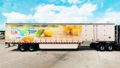 Haut Dole auf einem Vorhang semi-trailer