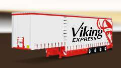 Vorhang Auflieger Krone Viking Express