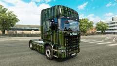 Bandes vertes de la peau pour Scania camion