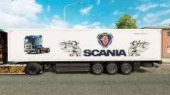 La peau Scania pour les remorques