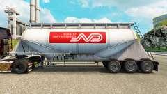 Haut Norbert Zement semi-trailer