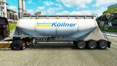 Haut Spedition Kollner Zement semi-trailer