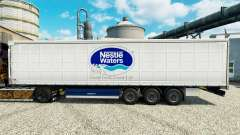 Nestle Waters de la peau pour les remorques