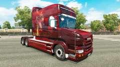 Haut Drachen für LKW Scania T
