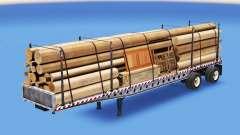 Die Auflieger-Plattform mit verschiedenen Lasten
