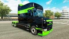 Haut-Schwarz-grün-für truck Scania T