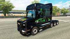 La peau Monster Energy v2 pour camion Scania T