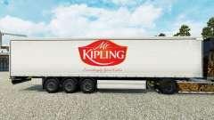 La peau de M. Kipling sur un rideau semi-remorqu