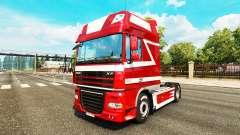 Peau métallique pour DAF camion