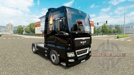La peau du Crâne sur le feu sur un tracteur HOMME pour Euro Truck Simulator 2