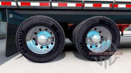 Verchromte Felgen aus Sattelauflieger für American Truck Simulator