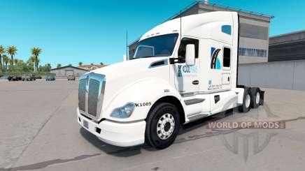 La peau KoolTrans sur tracteur Kenworth T680 pour American Truck Simulator